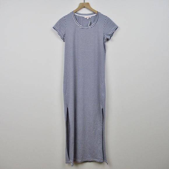 cec4c7b6fd0512 Sundry Dresses | Long Maxi Dress Blue White Striped Cotton 0 | Poshmark
